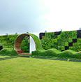 sama landscape design Terrace for Huntsman International Pvt. Ltd